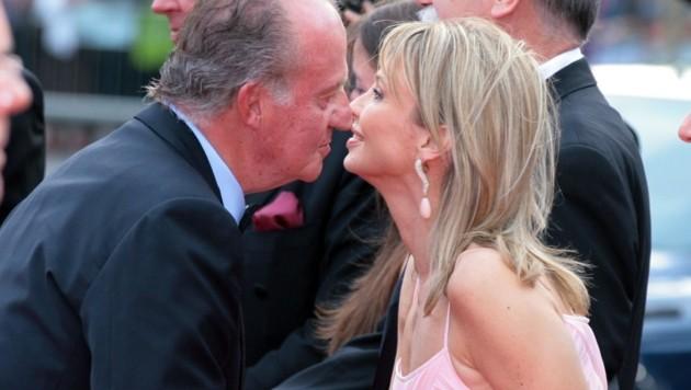 Juan Carlos mit Corinna Sayn-Wittgenstein beim Laureus Award 2006 in Barcelona (Bild: SCHROEWIG / dpa Picture Alliance / picturedesk.com)