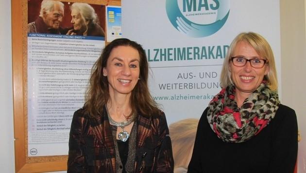Mag. Edith Span und Univ. Prof. Dr. Stefanie Auer (links)