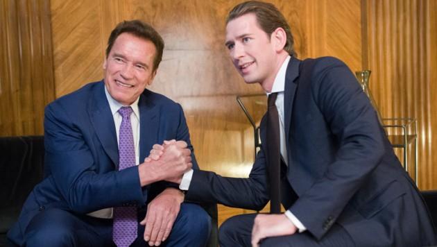 Kurz trifft Schwarzenegger in den USA