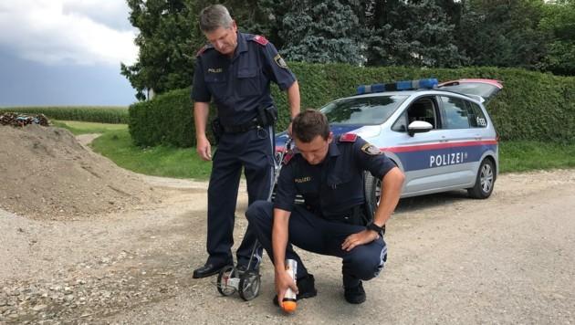Polizisten sicherten Spuren an der Unfallstelle.