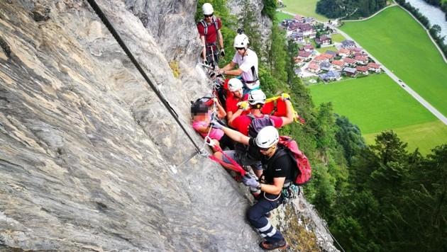Klettersteig Unfall 2018 : Jährige blieb in klettersteig hängen krone at