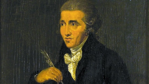Das Porträt des Malers Ludwig Guttenbrunn (1750-1819) zeigt den Komponisten Joseph Haydn (1732-1809). (Bild: APA/SCHLOSS ESTERHAZY MANAGEMENT GESmbH)