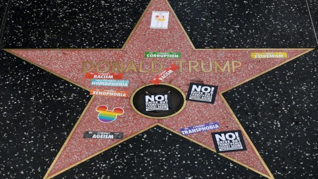 Trumps Stern auf dem Walk of Fame ist immer wieder im Visier von Vandalen. (Bild: AFP or licensors)