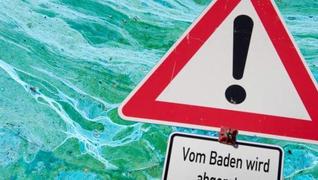 Wegen Blaualgen wird in diesem See vom Baden abgeraten.
