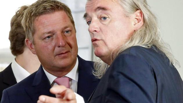 Villachs Bürgermeister Albel (li.) mit seinem Anwalt Meinhard Novak