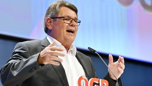 Schreibefreudig: Auch ÖGB-Boss Wolfgang Katzian ist im Polit-Karussell dabei. (Bild: APA/HANS PUNZ)