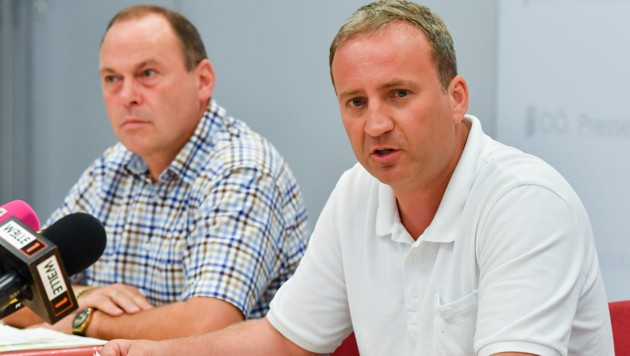 Michael Hammer (r.) ist ÖVP-Nationalrat und stellvertretender ÖAAB-Landesobmann. (Bild: Harald Dostal)