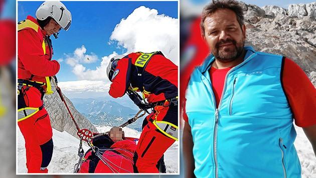 Hüttenwirt Wilfried Schrempf leistete Erste Hilfe und organisierte die Rettung für die abgestürzten Urlauberinnen. (Bild: Sepp Pail)