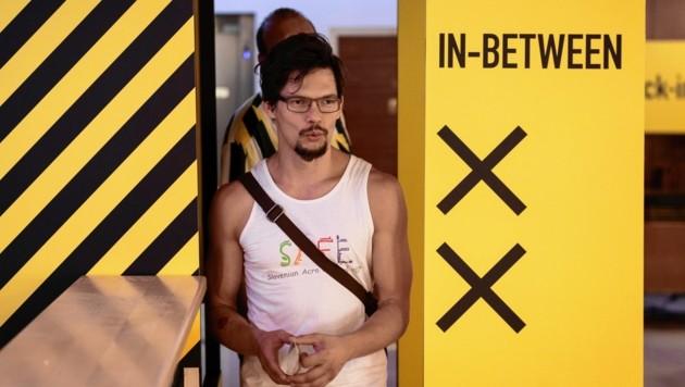 """Die Performance """"In-Between"""" sorgte am Mittwochnachmittag für einen Polizeieinsatz in Graz. (Bild: Nikola Milatovic)"""