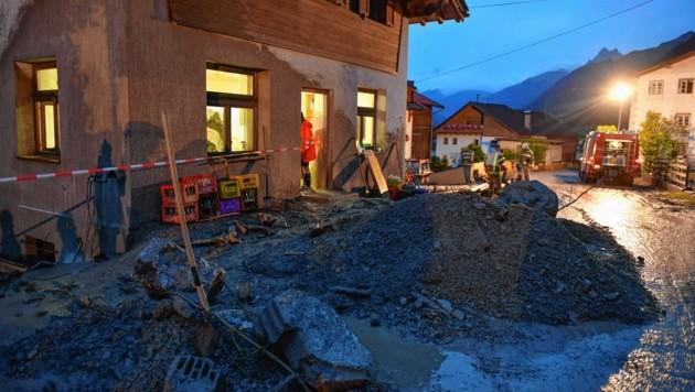 Unwetter im Tiroler Oberland (Bild: www.zeitungsfoto.at)
