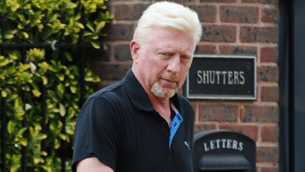 Boris Becker in London im Stadtteil Wimbledon, wo er mit seiner Familie gewohnt hat.