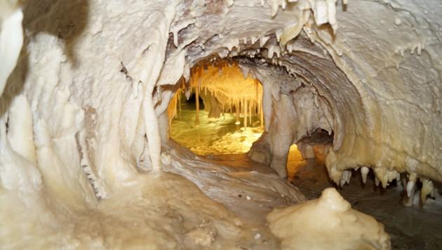 Die Obir-Tropfsteinhöhlen sind für Notfälle perfekt ausgerüstet. Regelmäßige Übungen sind selbstverständlich. (Bild: Christian Rosenzopf)