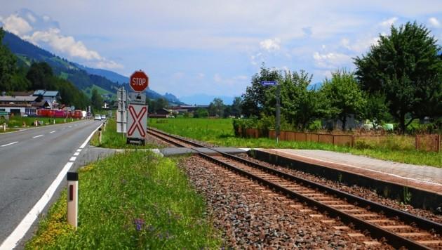 Bahnübergang in Burgwies. (Bild: Felix Roittner)