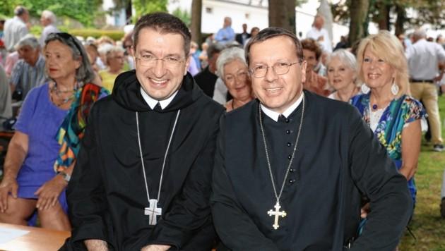 Äbte Korbinian und Johannes (Bild: www.neumayr.cc)