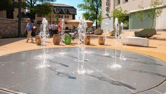 Dorfplatz in der Gemeinde Thalgau (Bild: www.neumayr.cc)