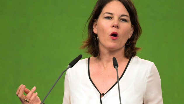 Grünen-Chefin Annalena Baerbock (Bild: APA/dpa/Nicolas Armer)