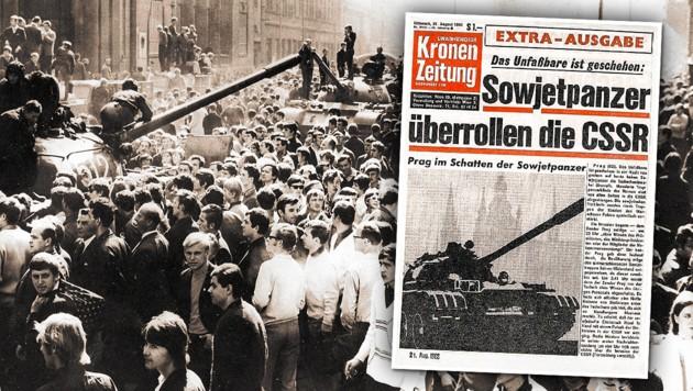 (Bild: Historisches Archiv, Kronen Zeitung, krone.at-Grafik)