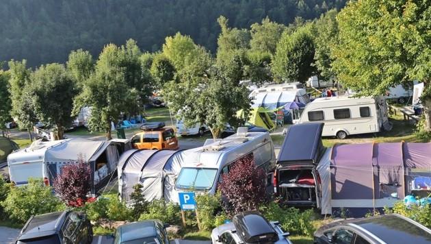 Campingplatz am Wolfgangsee (Bild: Marion Hörmandinger)