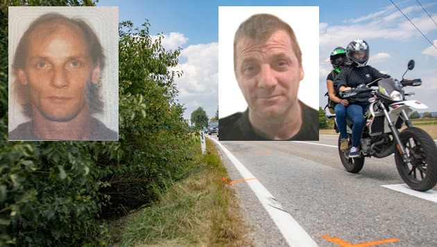 Die Brüder Heinz H. (l. o.) und Ludwig H. starben binnen 7 Tagen bei Motorradunfällen im Innviertel. Die Unglücksstellen waren lediglich 4 Kilometer voneinander entfernt. (Bild: Scharinger, ZVG, Esterbauer,)