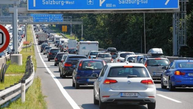 Nichts Neues: Stau auf Salzburgs Autobahnen (Bild: Markus Tschepp)