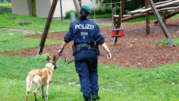 Bei einer Polizeikontrolle im Lehener Park wurden vier junge Männer mit Drogen erwischt. (Bild: MARKUS TSCHEPP)