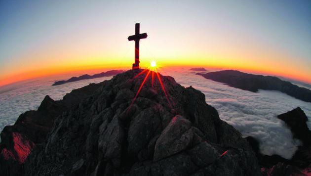 Sonnenaufgang am Großen Priel (Bild: Traunviertelbuch)