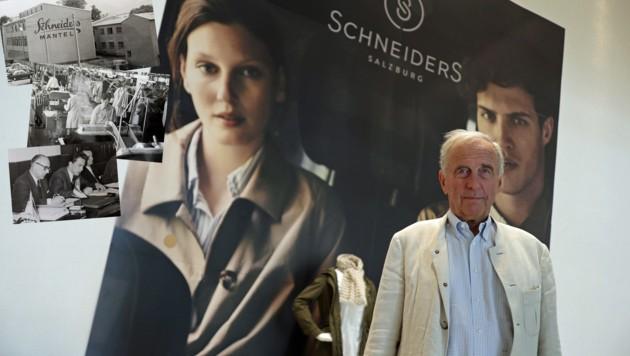Salzburg: Alfons Schneider über die Stationen seines Traditionsbetriebs. (Bild: Max Grill)