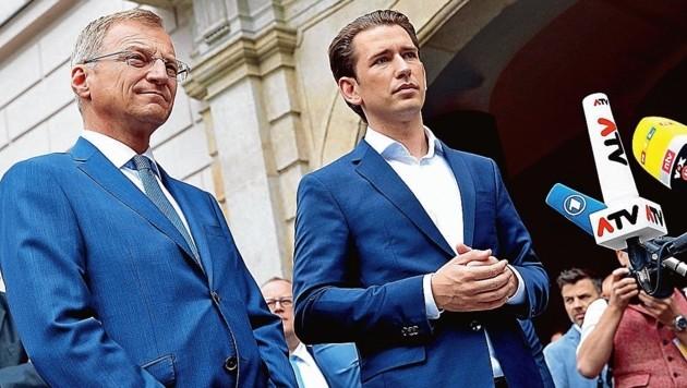 Bundeskanzler Sebastian Kurz zu Besuch bei Oberösterreichs Landeshauptmann Thomas Stelzer in Linz (Bild: Land OÖ/Denise Stinglmayr)