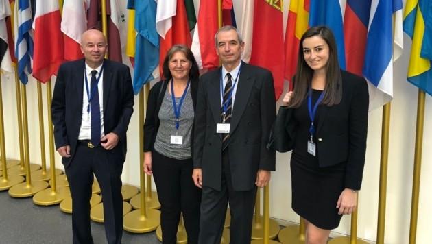 Zur Urteilsverkündung am 7.8.2018 beim EuGH in Luxemburg: Anwalt Dr. Wolfgang List, Franziska Zimmer, Michael Praschma, Mag.a Fiona List (Bild: 100 kV-ade)