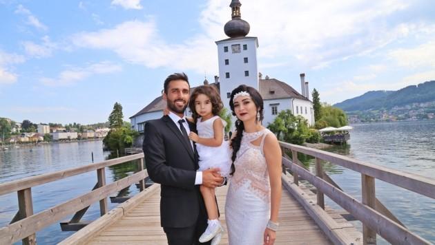 Hochzeit 8.8.2018 Standesamt Seeschloß Orth, Gmunden Omar und Melek Zadmard mit Tochter Hira, 3J. aus Linz (Bild: Marion Hörmandinger)