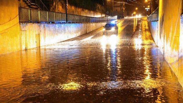 Unterführungen wurden geflutet (Bild: Markus Tschepp)