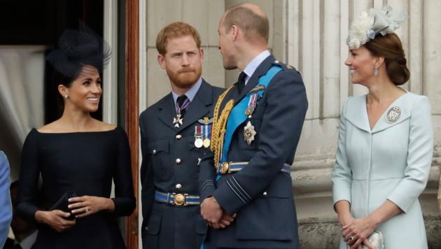 Herzogin Meghan, Prinz Harry, Prinz William, Herzogin Kate (Bild: Copyright 2018 The Associated Press. All rights reserved)