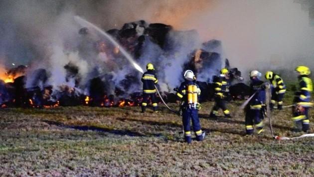 63 Florianijünger standen in der Nacht in Pollenitz im Einsatz. (Bild: FF Feldkirchen)