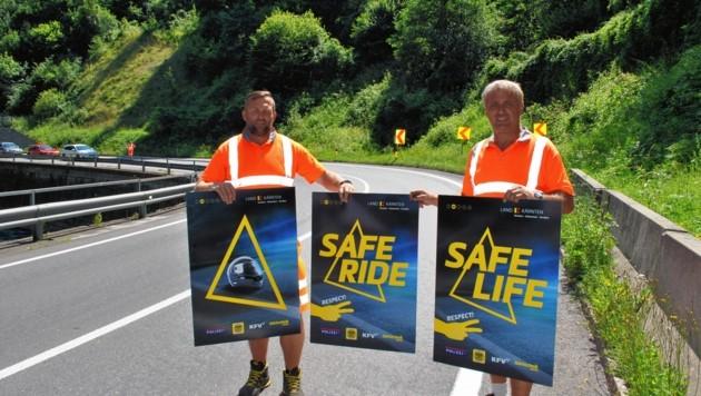 50 gefährliche Kurven werden mit Hinweisen ausgestattet. (Bild: Land Kärnten)