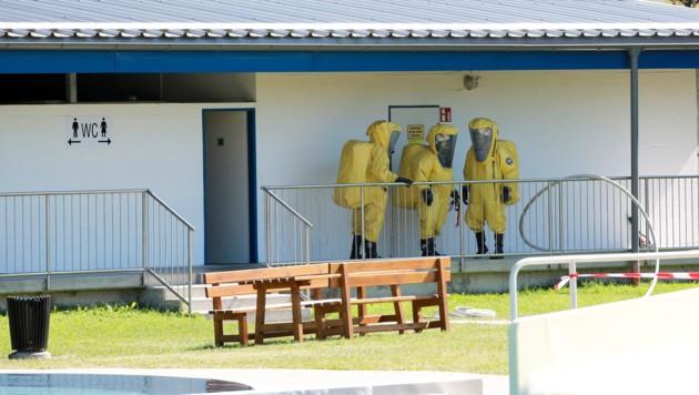 Chlorgasaustritt im Freibad Straßwalchen (Bild: manfredfesl.com)