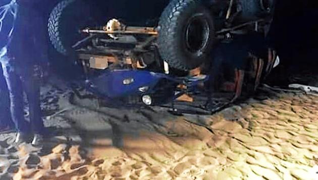 Das Unfallwrack (Bild: elcomercio.pe)
