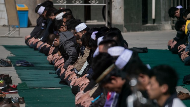 Chinesische Muslime beim Gebet (Bild: AFP)