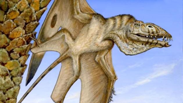 Künstlerische Illustration: So könnte der Flugsaurier ausgesehen haben. (Bild: YouTube.com/Brigham Young University)