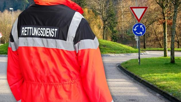 Die Pkw-Lenkerin fuhr in einem Kreisverkehr auf die Mopedlenkerin. Symbolbild. (Bild: stock.adobe.com, krone.at-Grafik)
