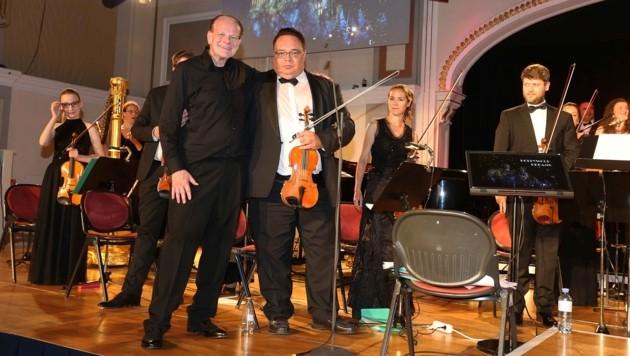 Pope und Leivici auf der Bühne (Bild: Reinhard Judt)