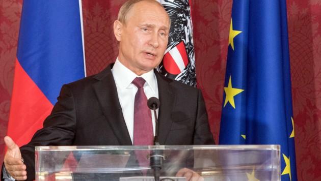 Wladimir Putin (Bild: APA/AFP/ALEX HALADA)