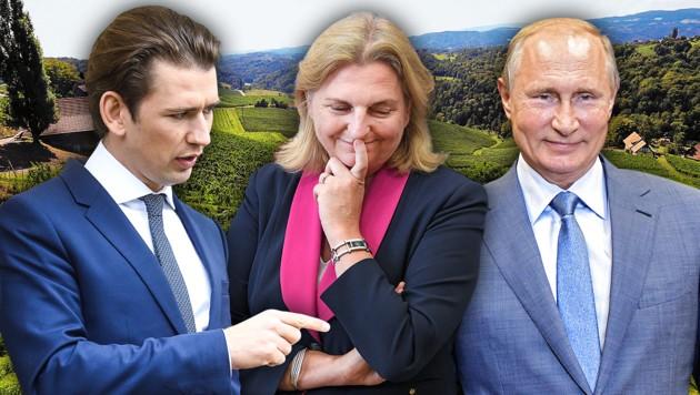 (Bild: APA/AFP, APA/ROLAND SCHLAGER, APA/BKA/ARNO MELICHAREK, Jürgen Radspieler, krone.at-Grafik)