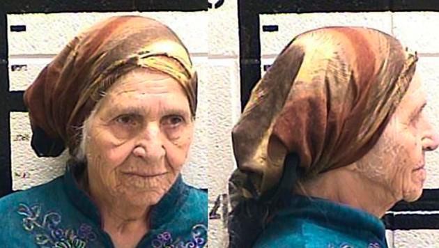 Martha Al-Bishara (87) auf ihrem Verhaftungsfoto (Bild: AP)