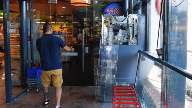 Am 17. August 2018 um 3.15 Uhr sprengten die Bande diesen Bankomaten in Graz-Waltendorf. (Bild: Elmar Gubisch)