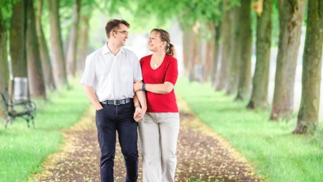 Seit 10 Jahren ein Paar, ab heute verheiratet: Claudia Weißensteiner und Jürgen Potocnik (Bild: Karin Bergmann)