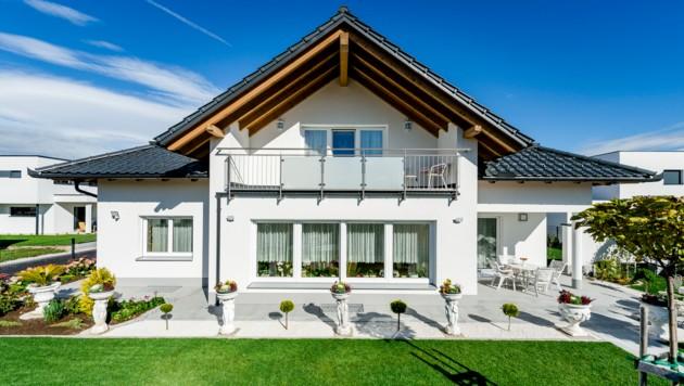 Die Mühlviertler errichten heuer gesamt 400 Einfamilienhäuser. (Bild: Wimberger-Haus/Martin Pröll)