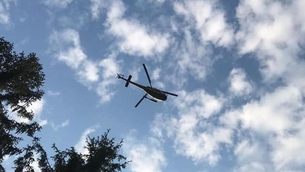 Auch der Polizeihubschrauber Libelle stand im Einsatz.