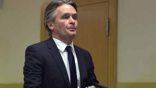 Peter Westenthaler nach der Urteilsverkündung im Jänner 2017 (Bild: APA/Hans Punz)
