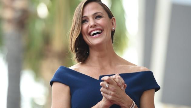 """Jennifer Garner freute sich über ihren Stern am """"Walk of Fame""""."""