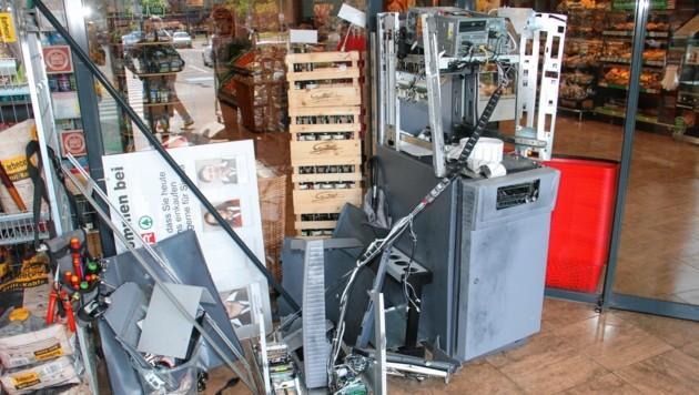 Dieser Bankomat in Gratkorn wurde gesprengt! (Bild: Jauschowetz Christian)